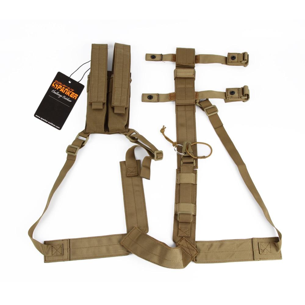 EXCELLENT ELITE SPANKER Kriss Hanging bag Shoulder Holster Armpit Rig with Pistol&Magazine Pouch Tactical Hunting Underarm bag