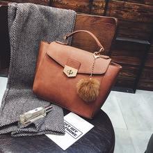 Weinlesetroddel Handtaschen Frauen Messenger Bags PU Top-Griff Shell Bag Totes 902