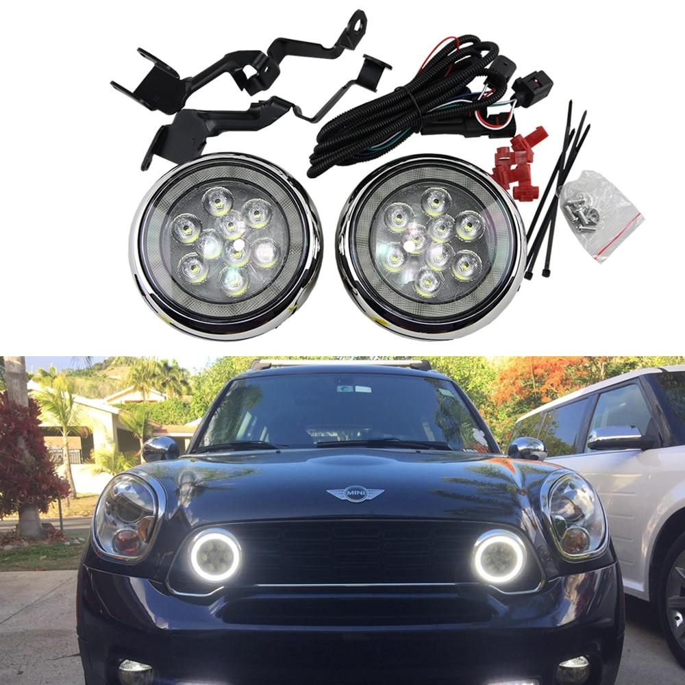 2x Halo LED Daytime Running Lights angel eye rally light For MINI Cooper all model R55 2x halo led daytime running lights angel eye rally light for mini  at eliteediting.co