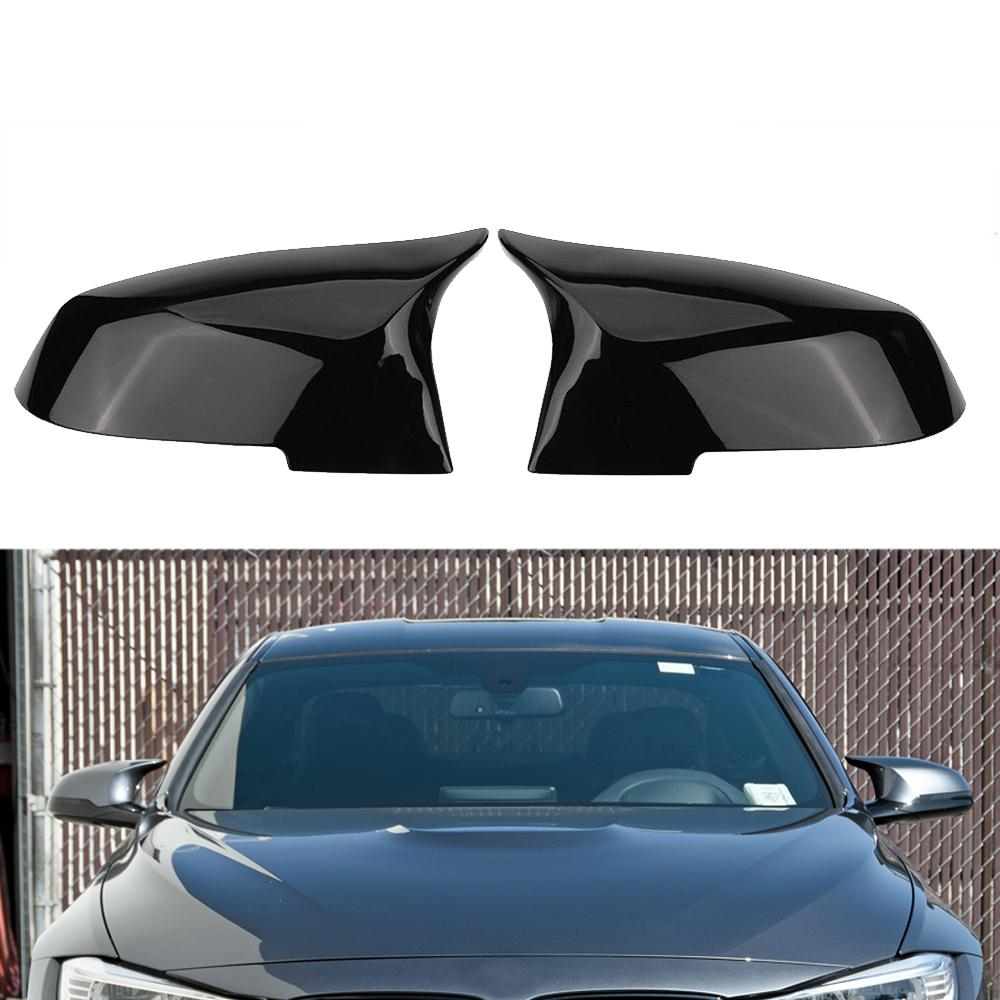 Glossy Black Mirror Cover For BMW F20 F21 F87 M2 F23 F30 F36 X1 E84 F87 320i 328i 330i 335i M4  Style-in Mirror & Covers from Automobiles & Motorcycles    1