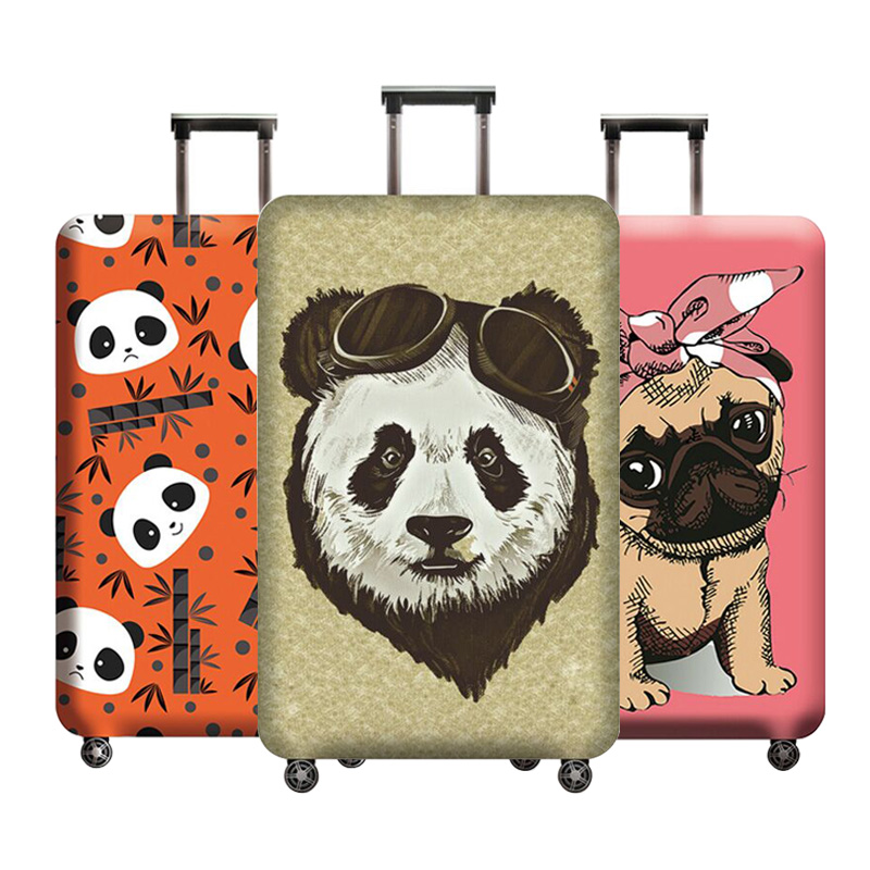The New Luggage Cover Trolley Case Cover Cartoon Image Luggage Protective Covers Travel Suitcase Dust Cover Travel Accessories
