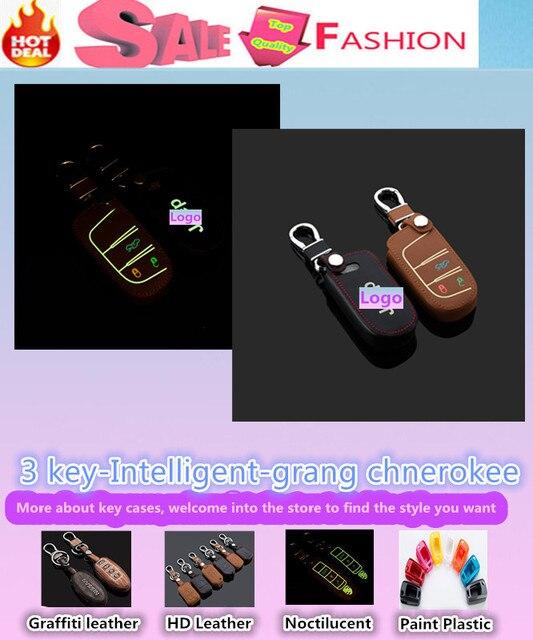Высокое качество автомобиль стайлинг обложка детектор световой кожа ключи от машины сумка чехол брелок бумажник интеллектуальные / раза для гранд чероки
