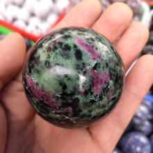 50MM High quality Natural Ruby Zoisite stone sphere crystal reiki healing ball 50mm natural amethyst quartz crystal gemstone sphere reiki healing orb crystal ball home decor meditation ball