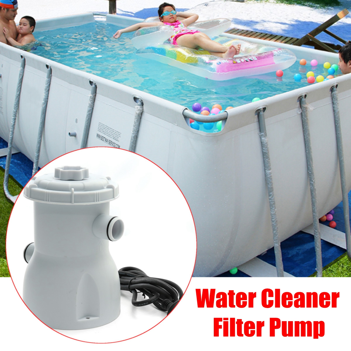 US $26.18 52% OFF|220V Electric Filter Pump Swimming Pool Filter Pump Water  Clean Clear Dirty Pool Pond Pumps Filter/swimming Pool Water Cleaner-in ...