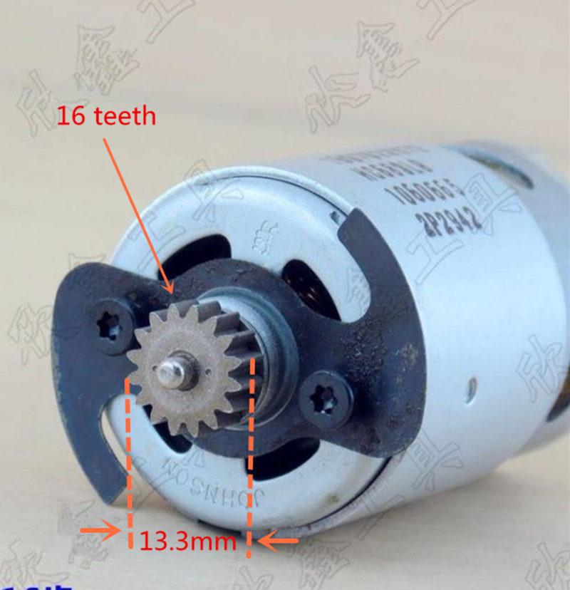 14.4V 18V 16 teeth motor for BOSCH GSB14.4-2-LI GSB18-2-LI 2609199339 HDB180 motor bosch 18v 2 0ah 1600z00036
