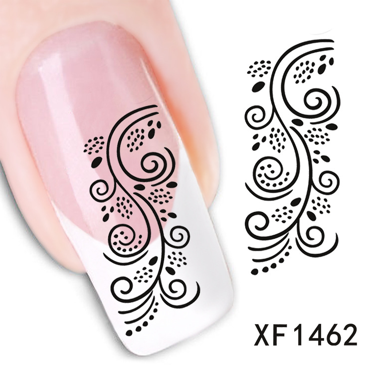 2 Sheet watermark nail stickers nail stickers nail jewelry nail ...