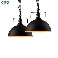 Винтажная железная Подвесная лампа chian окрашенная в черный/белый