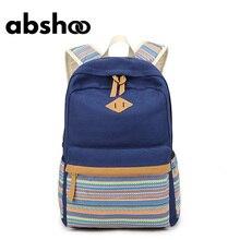 Рюкзак для подростков Обувь для девочек Школьные сумки милый холст Рюкзаки для Для Женщин Девочка Bookbag женский печатных Школьные сумки