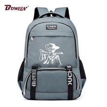 f0695088bf653 Yeni Baskı karikatür karakter sırt çantası okul çantası gençler için erkek  kız Rahat naylon Unisex Tasarım