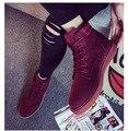 2017 новый женская обувь личности в трубке Мартин сапоги кружевные туфли темперамент Конного с Корова Мышцы подошва