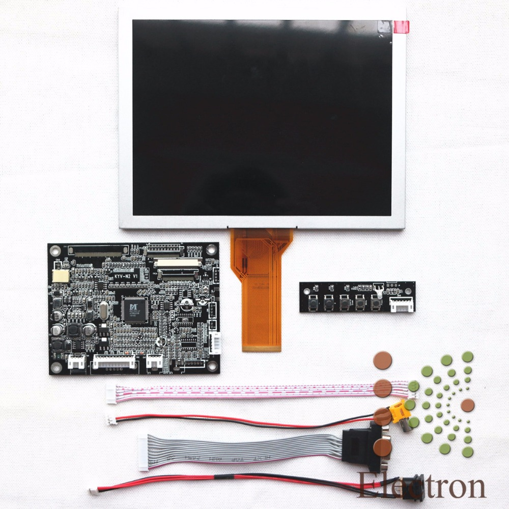 VGA AV LCD controller board KYV-N2 V1 kit + 8inch 800x600 lcd panel EJ080NA-05B qweek women home animal slippers fur indoor rabbit slippers warm ladies cute funny adult slippers female slide house shoes