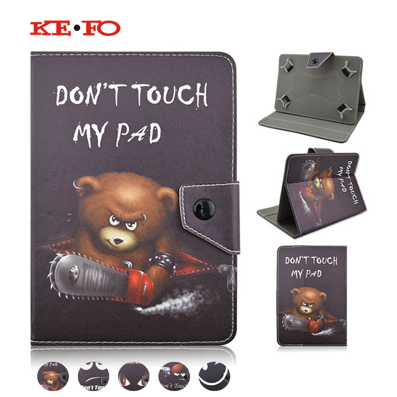 Kefo Case for Lenovo Idea Tab A10-70 A7600 A7600-h / A7600-f 10.1inch Universal PU Leather Tablet Case Cover +Center Film+Pen pu leather case cover for supra m141 10 1 inch universal tablet cases 10 inch android tablet pc pad center film pen kf492a