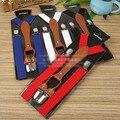 Qualidade Adultos Suspensórios 4 Clipes Das Mulheres Dos Homens Ajustável Clip-on Suspensórios Elásticos Calças Cintos Baces Jeans Correias, 100 PCS