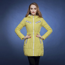 2014 women's slim fashion medium-long candy color thickening cotton-padded jacket female outerwear 50 цена 2017
