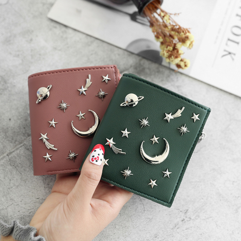 Women's 20% Simple Cross Pure Color Soft Star Star Wallet 2018 New Style Women's Wallet 3