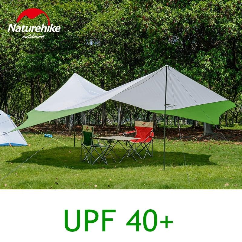 Naturetrekking abri solaire Hexagonal avec poteaux auvent étanche auvent tente de plage plage ombre bâche Pergola Camping parasol Gazebo - 3