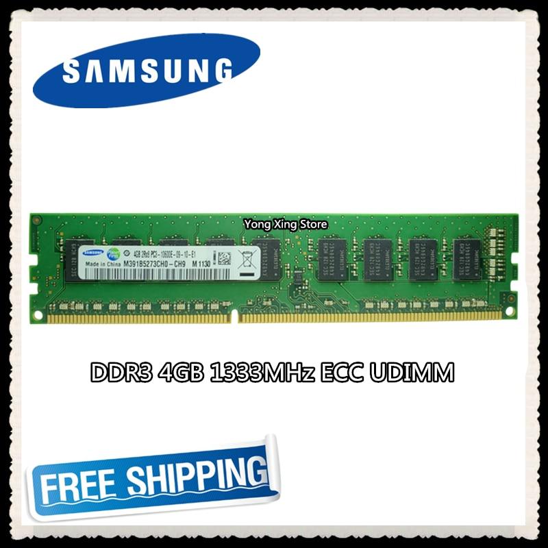 Pura do Servidor de Samsung Estação de Trabalho Memória Mhz Ecc Udimm Ram 2rx8 Pc3-10600e 10600 Unbuffered Ddr3 4 gb 1333 Mod. 1281134
