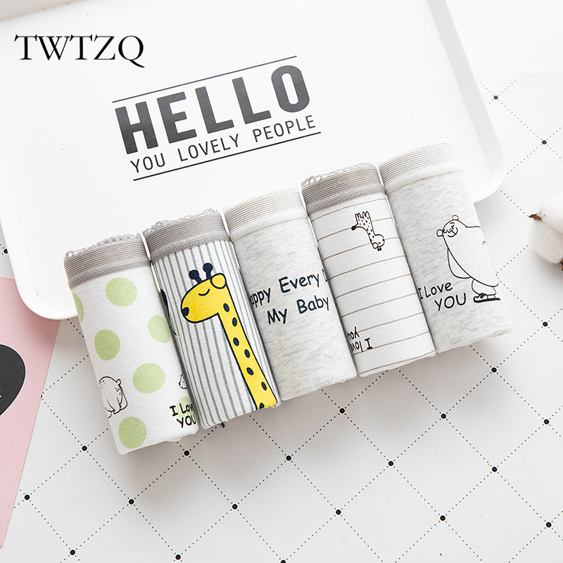TWTZQ Giraffe Bear   Panties   For Women Cotton Briefs New Lingerie Breathable Female Underwear Cute Girls Underpants