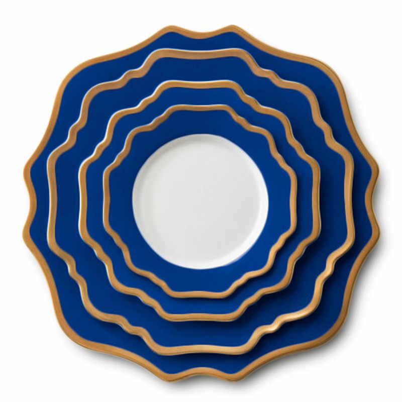Nordic Sunflower Ceramic Dinnerware Set Main Dinner Plates Dessert Dish Bread Plate Elegant Tableware Set Wedding Christmas Gift