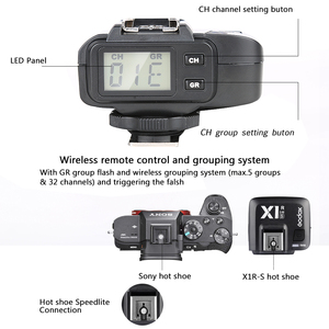 Image 5 - Godox X1R C/X1R N/X1R S TTL 2.4G Wirelss Flash Ontvanger voor X1T C/N/S Xpro  c/N/S Trigger Canon/Nikon/Sony Dslr Speedlite