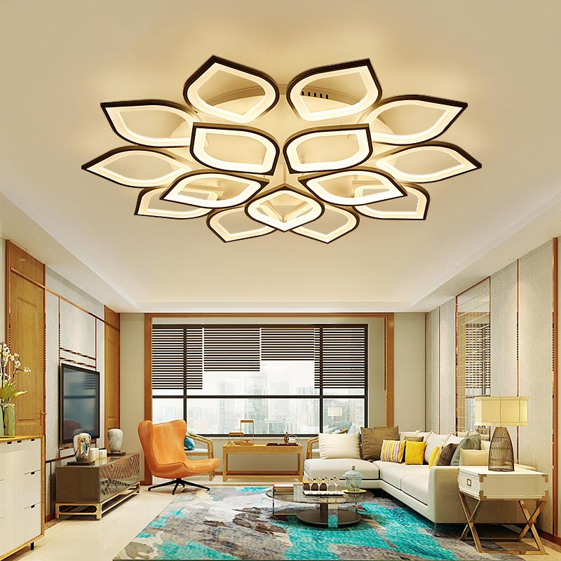 NEO Lueur Nouvelle Acrylique Moderne Led plafond Lustre lumières Pour Salon Chambre Décoration D'intérieur lampara de techo led moderna luminaire