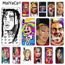MaiYaCa hip hop rapper Tekashi 69 6ix9ine  Phone Case For iphone 11 Pro 11Pro Max 6S 6plus 7 7plus 8 8Plus X Xs MAX 5 5S XR black with white moon stars space astronaut phone case shell for iphone 6s 6plus 7 7plus 8 8plus x xs max 5 5s xr 11pro max