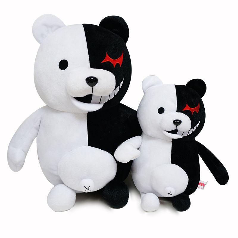 10-14inch  Black White Bear Plush Danganronpa Monokuma Toy Bear Dangan Ronpa Monobear Kigurumi Doll Stuffed Figure Gift Children
