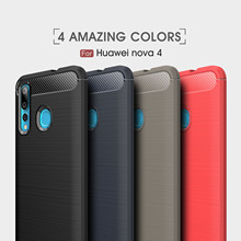 For Huawei Nova Plus 2 2S 3 4 Case Plain Carbon Fiber Soft TPU GR5 2017 G9 Enjoy 6 Magic Cover Funda