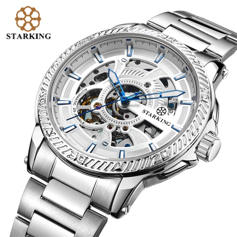 STARKING Kişi Avtomatik Saatı Müasir Dizayn Kişi Skeleti Mexanik - Kişi saatları