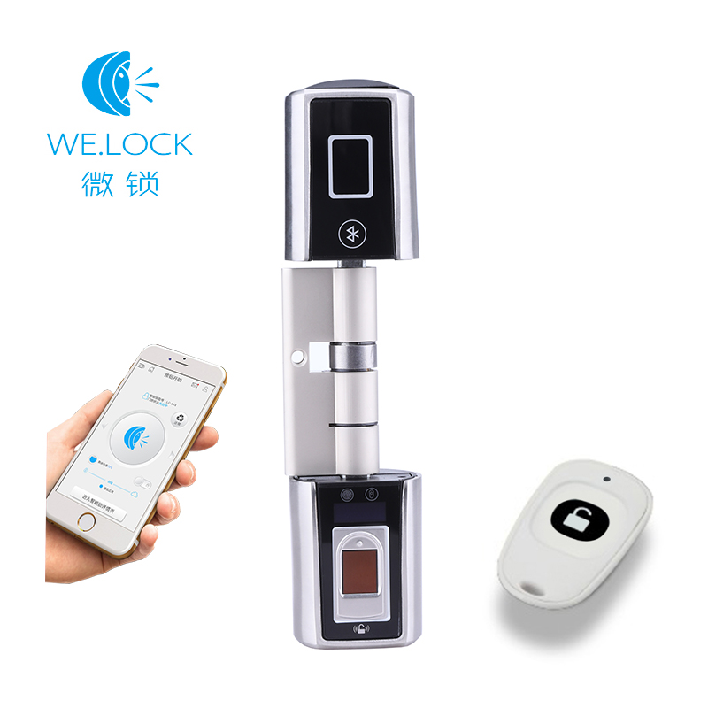 2019 new Interlligent APP Remote Fingerprint electronic door Lock Cylinder Door Open L5SR Plus Fingerprint 20