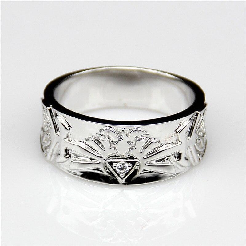 lasamero antique round moissanites wide band zelda legend 9k white gold engagement ring moissanites mens wedding band - Zelda Wedding Ring