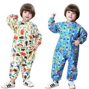 Image 1 - Yuding Cartoon Waterproof Raincoat Children Kids Baby Rain Coat Overall Boys Girls Painting Clothes Playful Water Suit 70 120CM