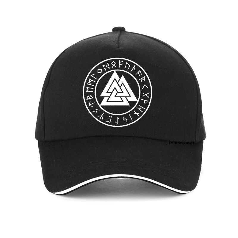 Nordic Viking   cap   Rune beads Signet wolf Scandinavn Odin Symbol   Baseball     cap   fashion Men snapback hat Hip Hop bone