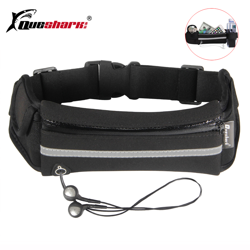 QUESHARK Adjustable Outdoor Waterproof Men Women Running Waist Bag Fitness Belt Pack