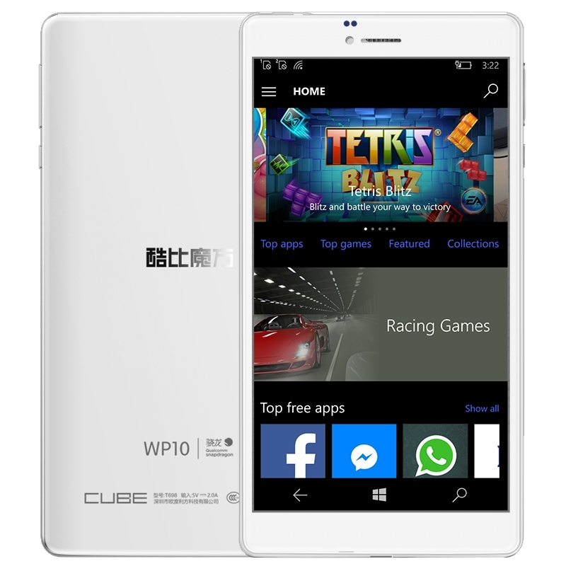 Original Cube WP10 6.98 inch tablet Windows 10 Mobile OS 4G Phone Call 2GB 16GB Qualcomm MSM8909 Quad-core 2 SIM OTG GPS