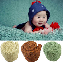 Newborn Baby Photography Props Soft Plush Blanket Mat Bebe Infant Photo Accessories Backdrop Basket Filler Background 1*1.6M