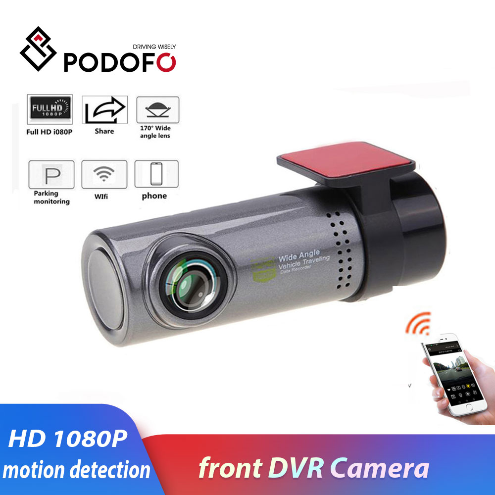 Podofo DVR Cam Camera Driving-Recorder Dash-Cam Smart-Wifi 130-Degree Sony 1080P Wireless