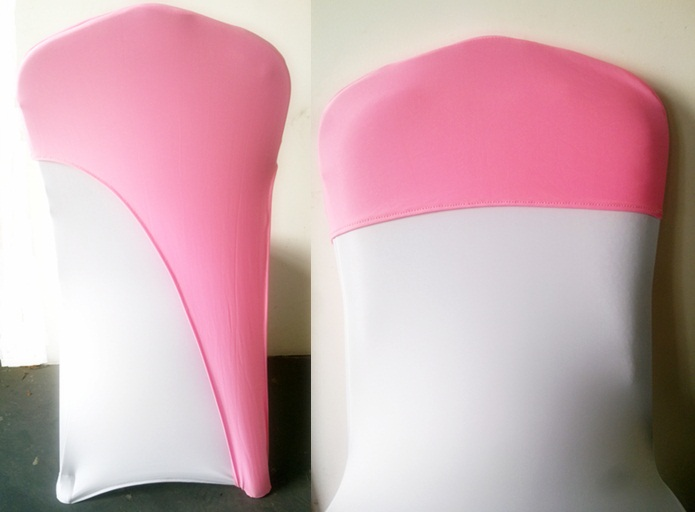chair caps covers wire dining room chairs pink colour lycra universal for wedding decoration spandex party cover fit all wholesale in sashes from home garden on