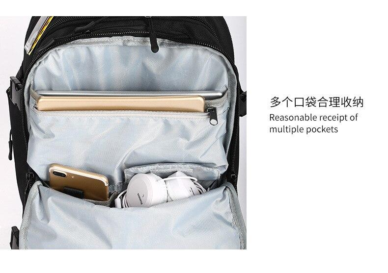 ZYJ hommes d'affaires voyage randonnée sac à dos pour ordinateur portable avec poche à chaussures femmes USB Interface de charge école sac à dos sac à dos sac à dos - 3