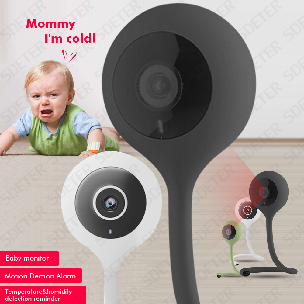 SDETER Wireless Wifi Camera Baby Monitor Nanny 2 Way Audio Cloud IR Night Vision Security Camera Temperature Monitoring Lullaby