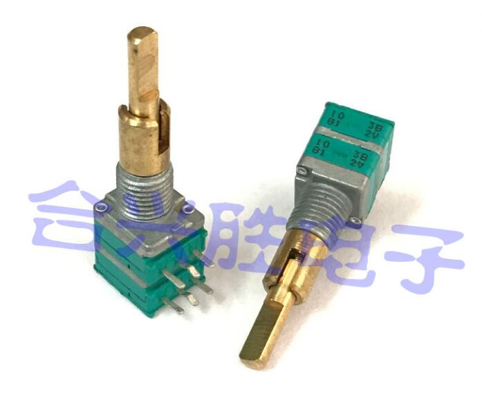 [VK] ALPS double axis Precision potentiometer RK097 B10K B10Kx2 amplifier for automobile audio navigation volume switch eizz 100k precision 24 steps stereo log attentuator volume potentiometer for hifi audio amplifier diy