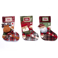 Christmas Stocking  Kids Xmas Decoration Candy Bag Sock Gift Tree Supplies for Home