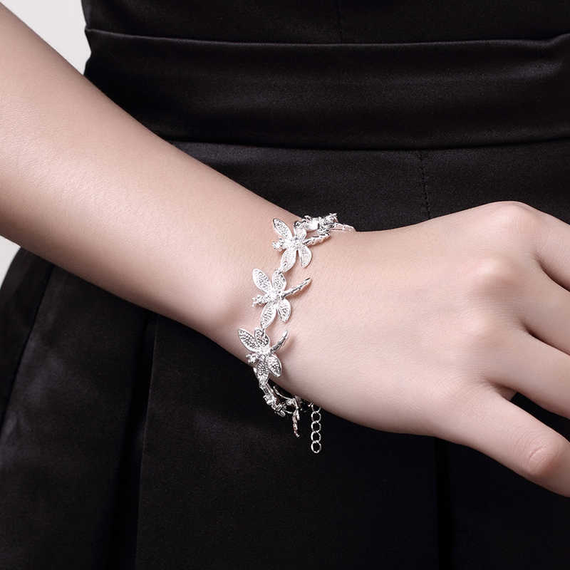 925 Silver DRAGONFLY สร้อยข้อมือผู้หญิงสร้อยข้อมือ Charm ผู้หญิงคุณภาพสูงเงินเครื่องประดับของขวัญ