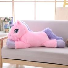 85cm/100cm White Unicorn Plush Toys Giant Stuffed Animal Horse Toy Soft Unicornio Peluche Doll Gift Children Photo Props