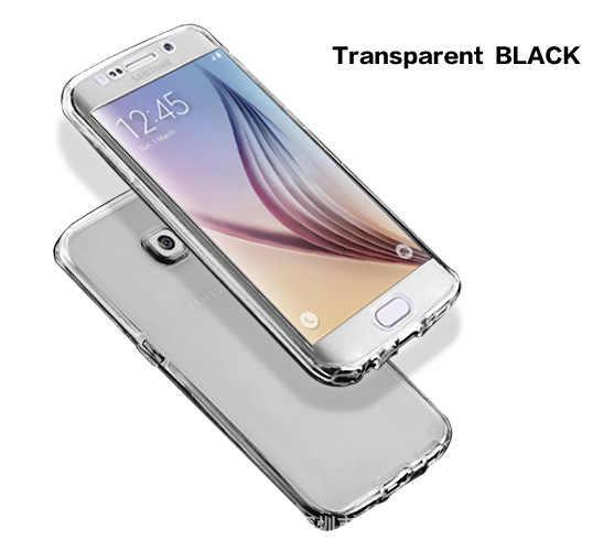 Caja del teléfono celular para Samsung galaxy S3 duos S4 S5 neo S6 S7 borde S8 Plus nota 3 4 5 cubierta clara completa de 8 9 núcleos Grand Prime 360