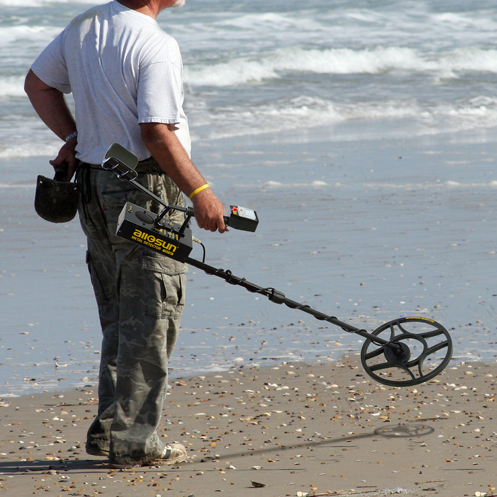 all sun TS130 Metal Detector Underground with Waterproof Search Coil Iron Box Gold Metal Detector Treasure