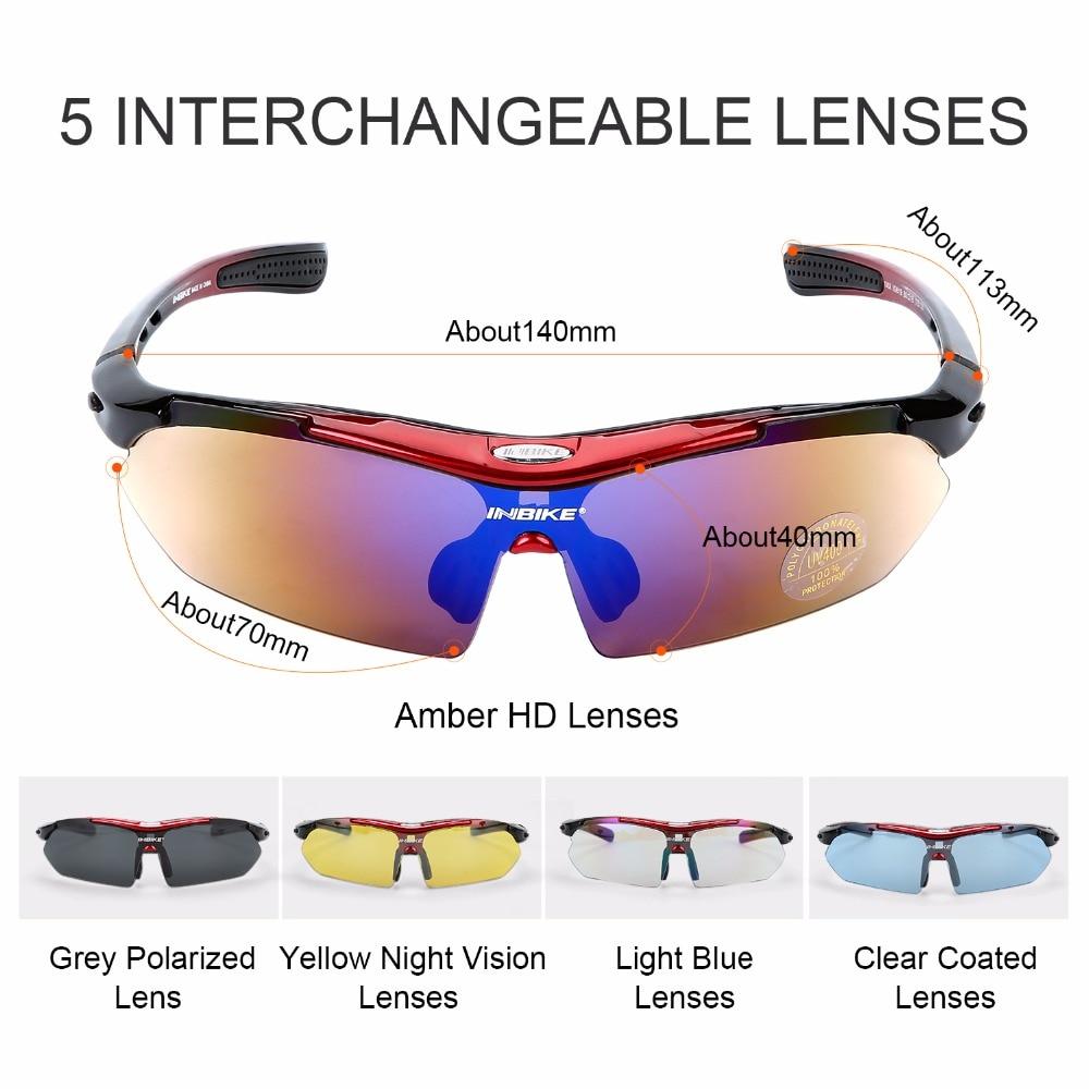 6c6d480789 Gafas de sol para ciclismo en bicicleta gafas de sol polarizadas gafas  Goggle 5 lentes 3 colores marco UV a prueba de Sol para deportes al aire  libre en ...
