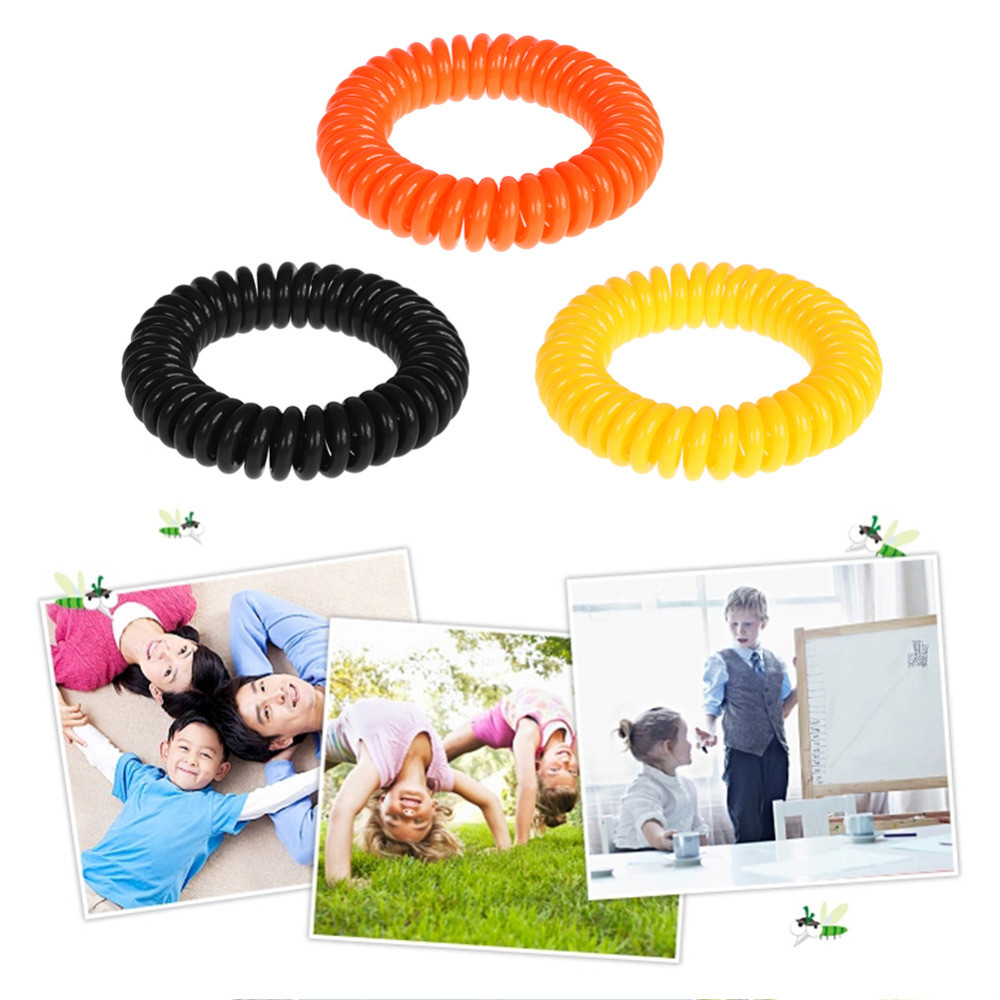 Mosquito-repellent 2018 5PCS Anti Mosquito Insect Repellent Wrist Hair Band Bracelet Camping Outdoor 6.28