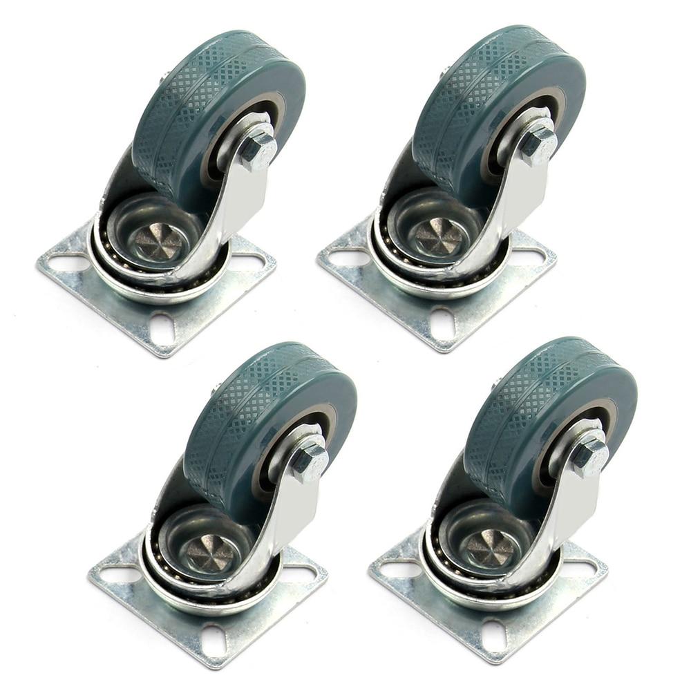 4 x Heavy Duty 50x17mm Rubber Swivel Castor Wheels Trolley Furniture Caster Brake4 x Heavy Duty 50x17mm Rubber Swivel Castor Wheels Trolley Furniture Caster Brake