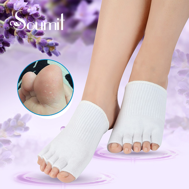 Soumit Beauty Whitening Exfoliating Foot Spa Silicone Gel Moisturising Repair Cracked Dry Hard Skin Treatment Forefoot Socks Pad sea of spa exfoliating shower gel red grapefruit